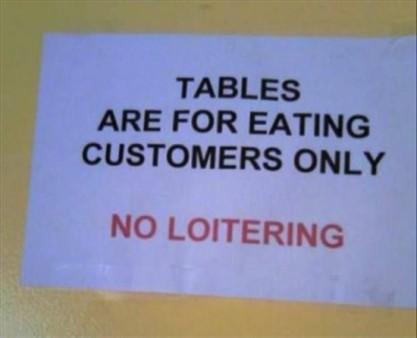 Eating customers