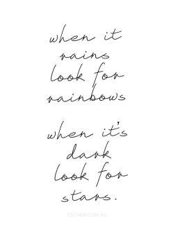 rain and stars